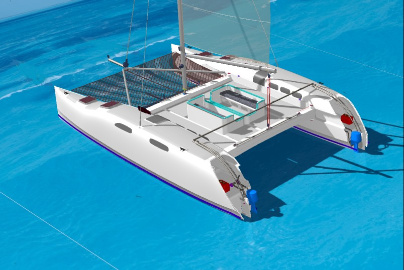 ... and Trimarans for Cruising and Charter - 36' Cat 2 Fold Catamaran