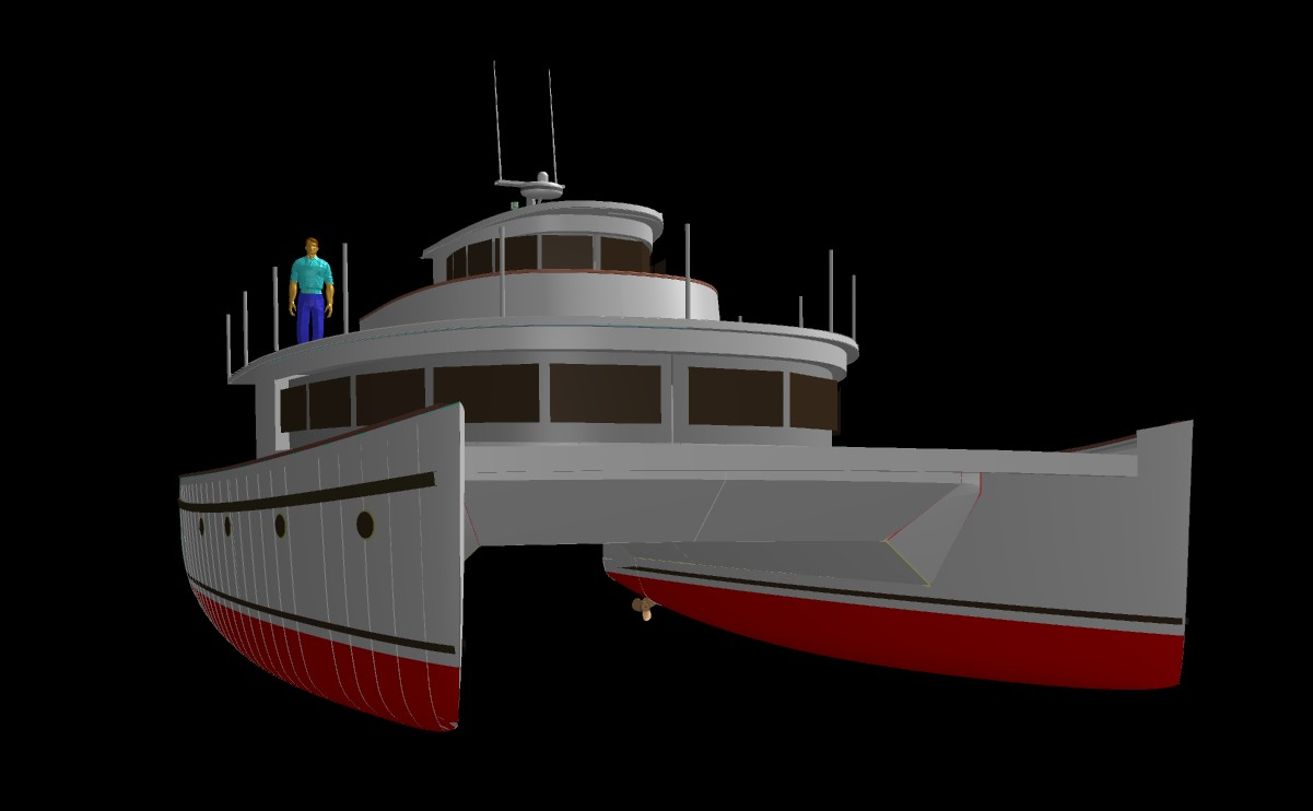 Multi hull power boat plans uk